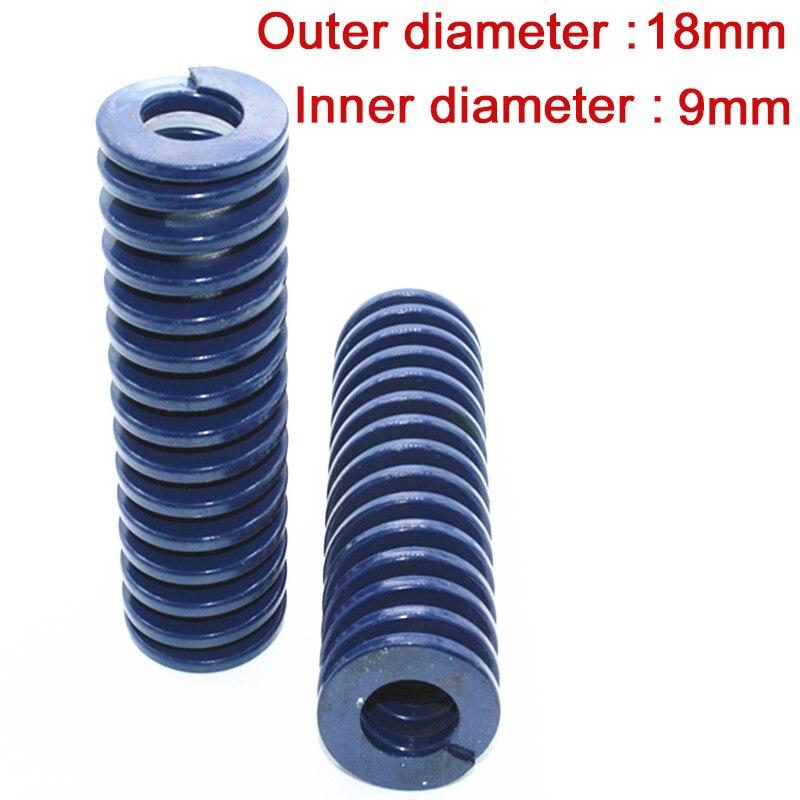 1 шт прессформы умереть пружины сжатия наружный диаметр 18 мм внутренний диаметр 9 мм Длина 20 мм-300 мм синий светильник нагрузки тиснения пруж...