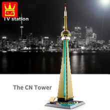 цена на Creators City Building The CN Tower Canada Architecture World Famous Model City Street View Building Block Toy For Children Gift