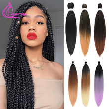 Hair Braiding-Hair Professional Pre-Stretched Yaki Synthetic Perm Ez 26inch Soft Easy
