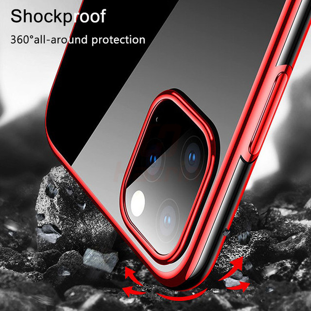 Hacrin Transparent TPU Silicone Case for iPhone 11/11 Pro/11 Pro Max 3