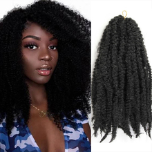 X-TRESS Synthetic Marley Crochet Braids Hair Natural Black 1B# Red Pink Color 18inch Soft Afro Kinky Braiding Hair Extensions