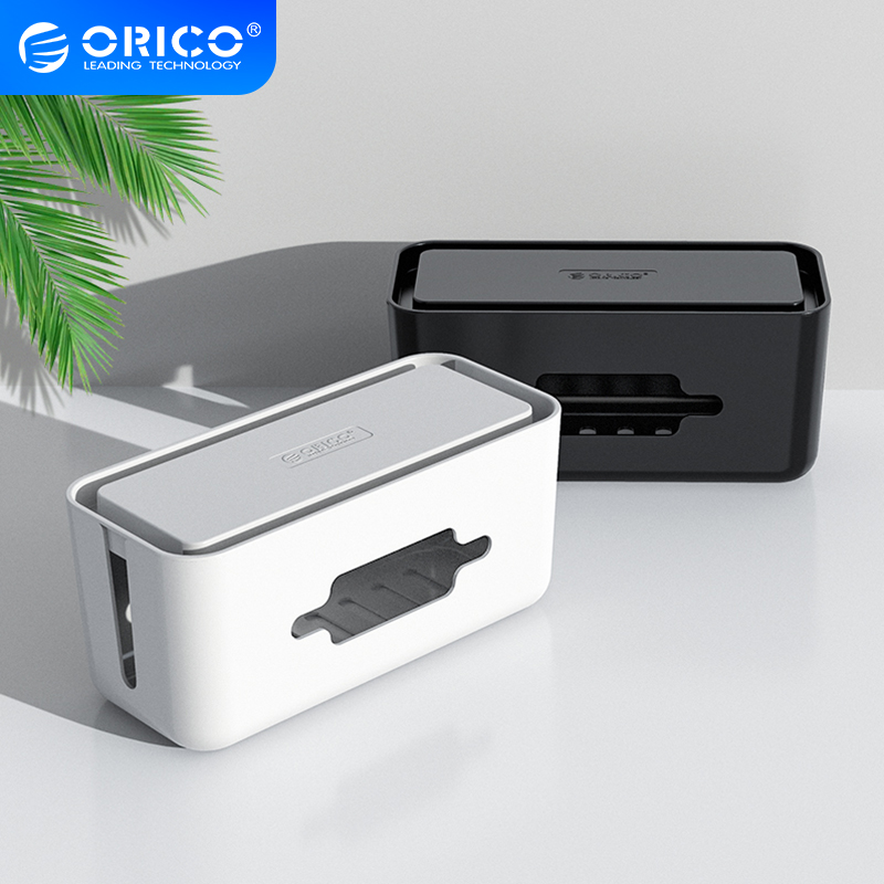 ORICO Storage Box Phone Holder Power Strip Box for Adapter Wire Charger Line USB Network HUB Cable Management Box