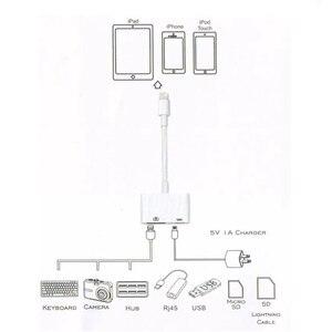 Image 4 - Reilim OTG Adapter สำหรับ Lightning TO USB 3 กล้องอะแดปเตอร์ OTG สายแปลงข้อมูลสำหรับ iPhone iPad iPod คีย์บอร์ด IOs 13 CONNECTOR