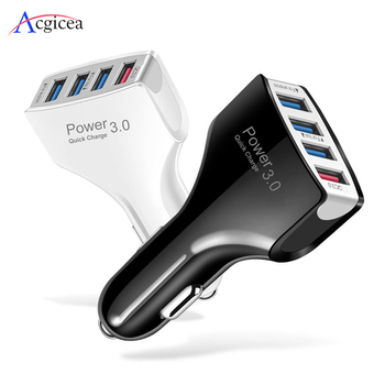 4 Ports USB Car Charger Quick Charge 3.0 Phone Charger Car Fast Charging Car Portable Chargers for Huawei Mate 30 Pro iPhone 11