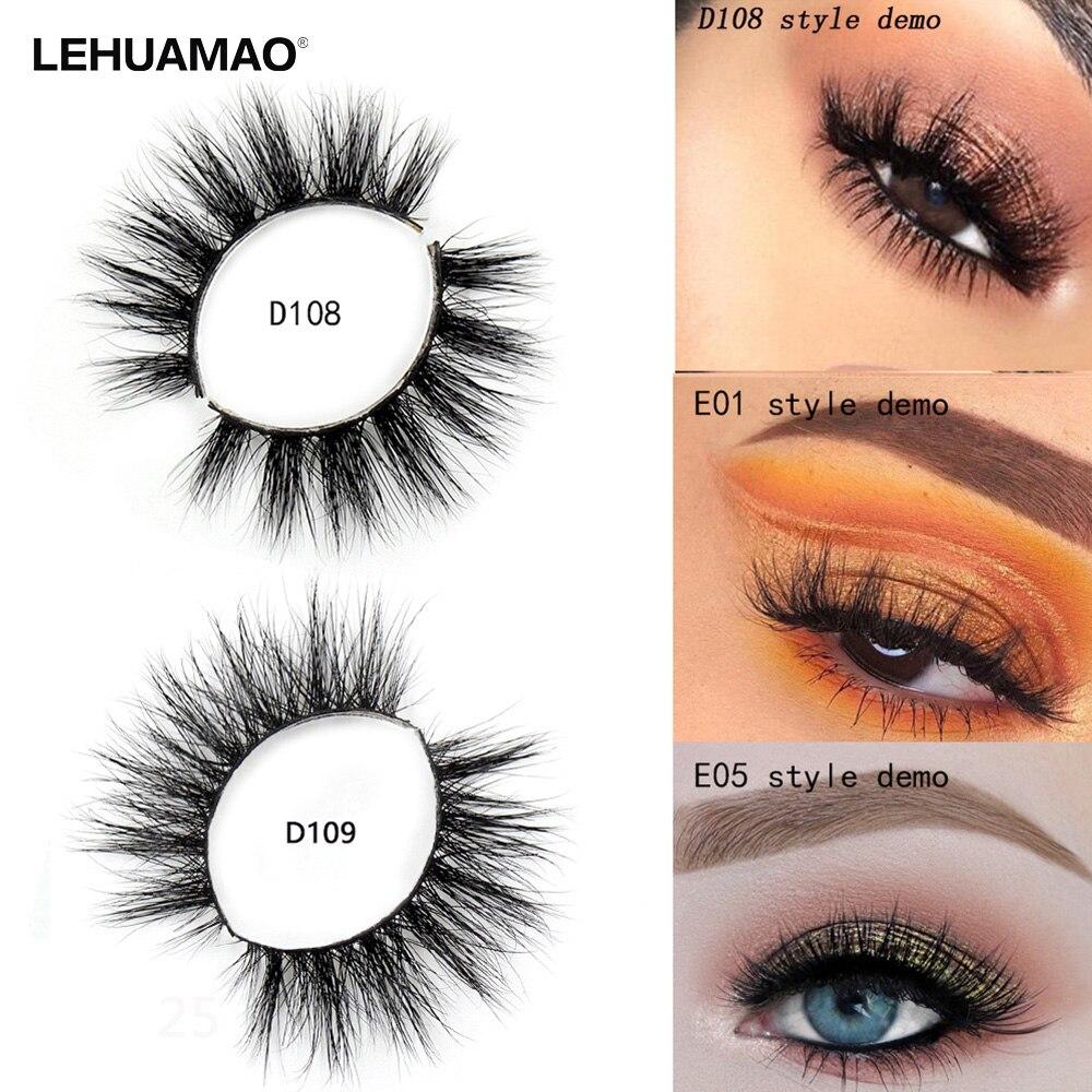 LEHUAMAO False Eyelashes 3D Mink Eyelashes Thick Natural Long Fluffy High Volume Eye Lashes 100% Cruelty Free Makeup Fake Lashes