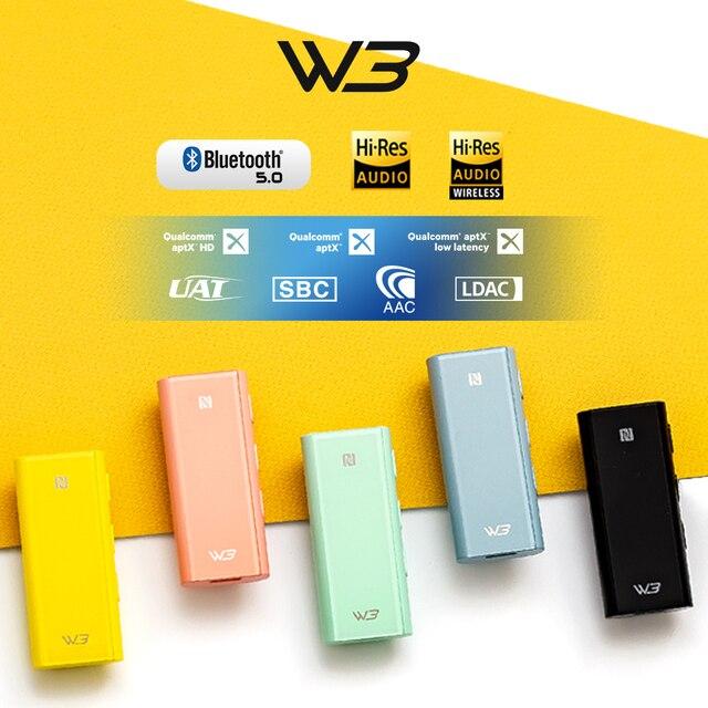 HiBy W3 USB DAC 3.5mm Portable Wireless Bluetooth Headphone Amplifier receiver AK4377 UAT APTX HD LDAC Noise Reduction 1