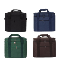 Outdoor Picnic Cooler Lunch Bags Waterproof Takeout Aluminum Foil Insulation Cold Box Bag