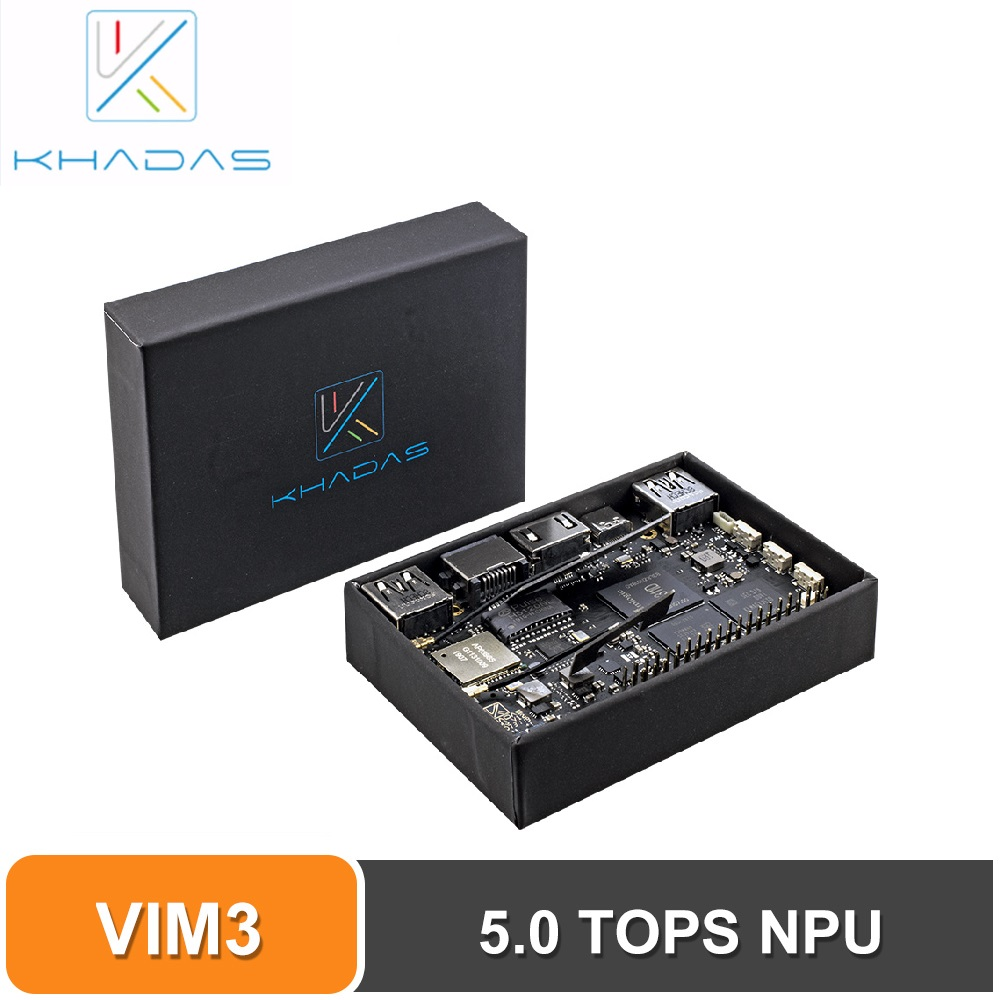 Khadas VIM3 Pro Single Board Computer Amlogic A311D With 5.0 TOPS NPU AI Tensorflow X4 Cortex-A73 X2 A53 Cores SBC Android Linux