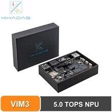 Khadas VIM3 pro tek kart bilgisayar Amlogic A311D 5.0 üstleri NPU AI tensorflow x4 Cortex A73 x2 A53 çekirdek SBC android linux
