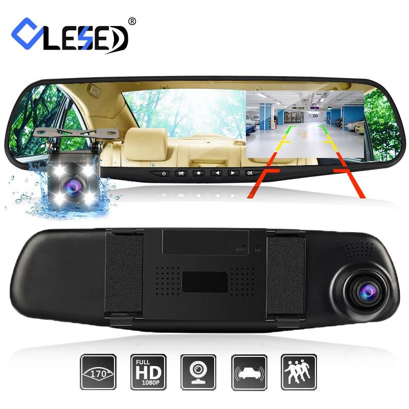Dash cam miroir dash caméra double caméras lentille voiture dvr avec deux caméras rétroviseur dashcam full hd enregistreur vidéo avant et arrière|car dvr|dual camera lensdvr with camera - AliExpress
