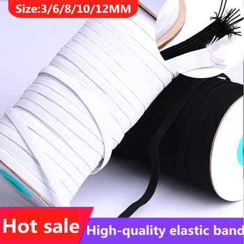 3/6/8/10/12mm 5yards/Lot High-Elastic Sewing Elastic Ribbon Elastic Spandex Band Trim Sewing Fabric DIY Garment Accessories image