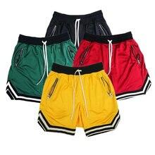 Пять спортивных шорт для баскетбола черные красные желтые зеленые