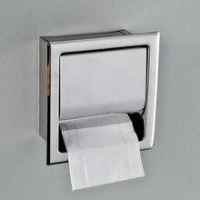 Soporte de tejido de acero inoxidable para baño en línea, caja de pañuelos incorporada, carrete de cocina de Hotel, bandeja de rollo de baño 2020