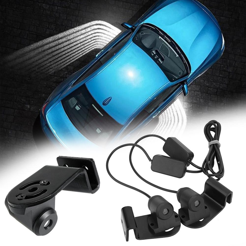 2Pcs Car LED Welcome Light Door Step Ground Angel Wing Projector Car Fashion Accessories