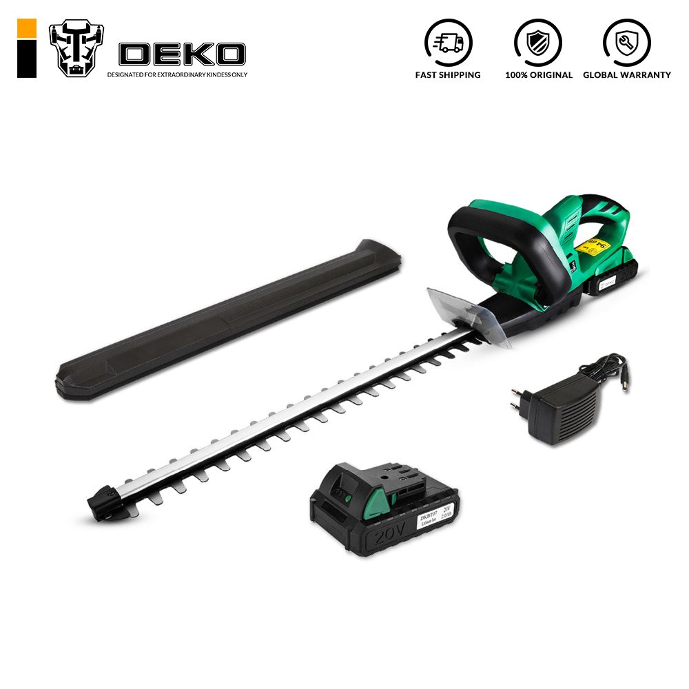 DEKO 20V Lithium 2000mAh Cordless Hedge Trimmer Quick Charge Rechargeable Electric Trimmer Pruning Saw With Dual Blade/Saw