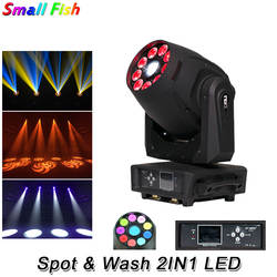 Лидер продаж 120 Вт светодиодный место + 9X12 Вт RGBWA-UV 6IN1 светодиодный стирка перемещение головы огни DMX 16/23 Chs электронный линейный фокус для