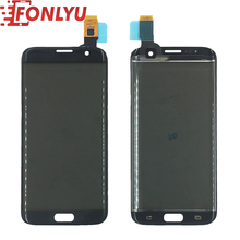 Original Front Glass + Touch Panel +Polarizer Film Assembly For Samsung S7 Edge G935F LCD Screen Repair Broken Galss Replacement