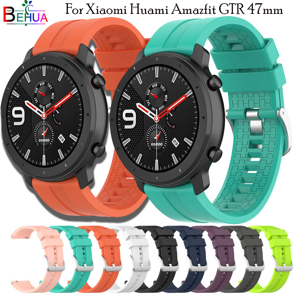 Hero Iand Silicone 22mm Watchband For Huawei Watch GT 46mm Straps For Huami Amazfit GTR 47mm Smartwatch Wristband Bracelet