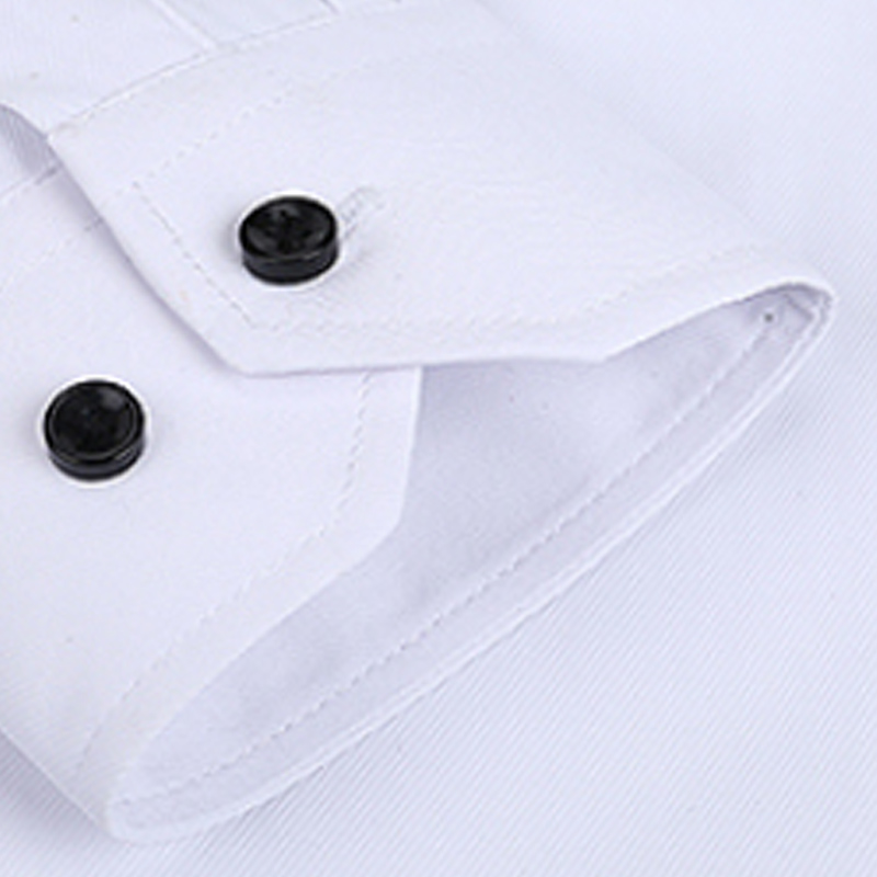 Autumn New Men Shirt Smart Casual Long Sleeved Button Down Male Twill Shirts Formal Business White Blouse 4XL 5XL 4