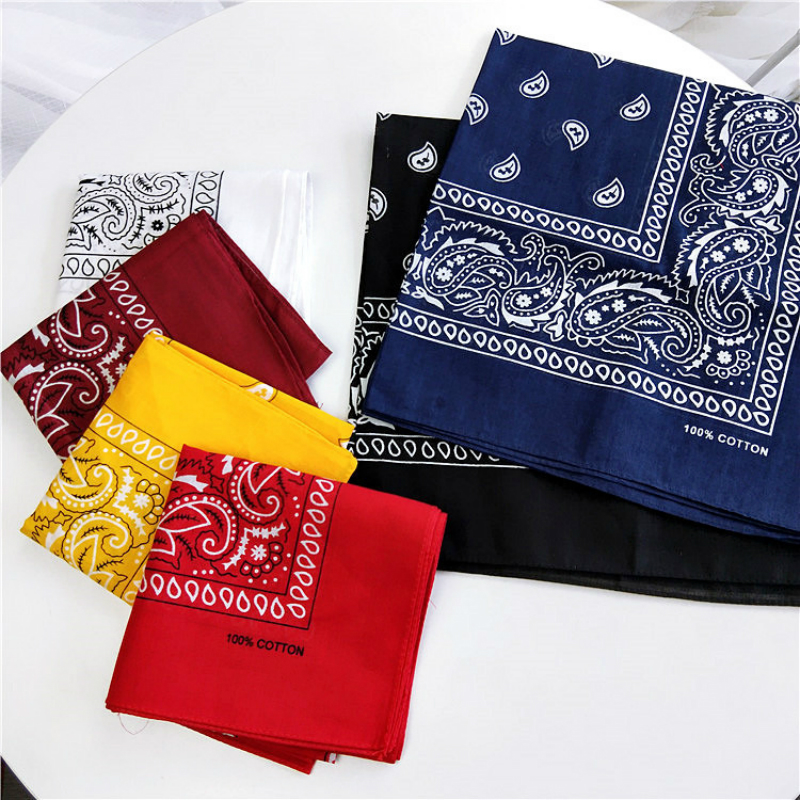 55*55CM Unisex Cotton Blend Hip Hop Bandana Headwear Hair Band Scarf Neck Wrist Wrap Band Magic Head Square Scarf