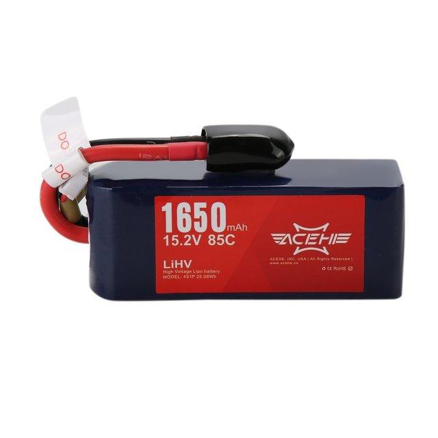 Batterie portative de Lipo de décharge élevée dacehe 14.8V 1650mAh 75C XT60 de batterie Durable à haute tension de polymère de Lithium pour la série de ht