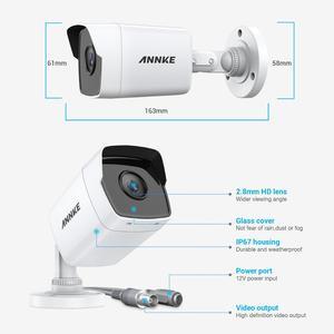 Image 3 - ANNKE 4X caméra Ultra HD 5MP vidéosurveillance TVI pour lextérieur, système de sécurité blanc résistant aux intempéries, Vision nocturne EXIR, Kit dalerte électronique