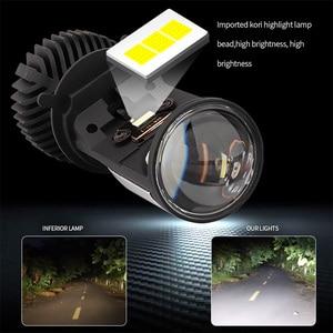 Image 5 - Canbus 90 W/Pair מנורת H4 LED מיני מקרן עדשת Automobles הנורה 14000LM המרת ערכת Hi/Lo קרן פנס 12V/24V RHD LHD