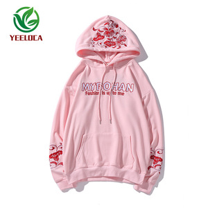 Image 5 - 2019 Dropshipping Embroidered Hooded Top Men Women Autumn Winter Loose Hiphop Hoodies Couples High Quality Casual Sweatshirts