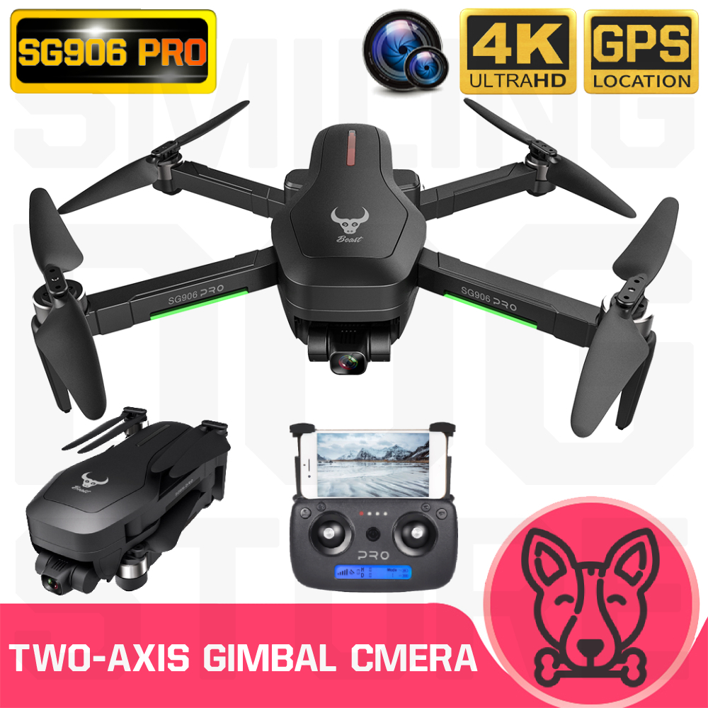 SG906 Pro Drone GPS 4K HD Two-Axis Anti-Shake Stable Gimbal Camera 5G WIFI Brushless SD Card Drones Professional RC Quadcopter