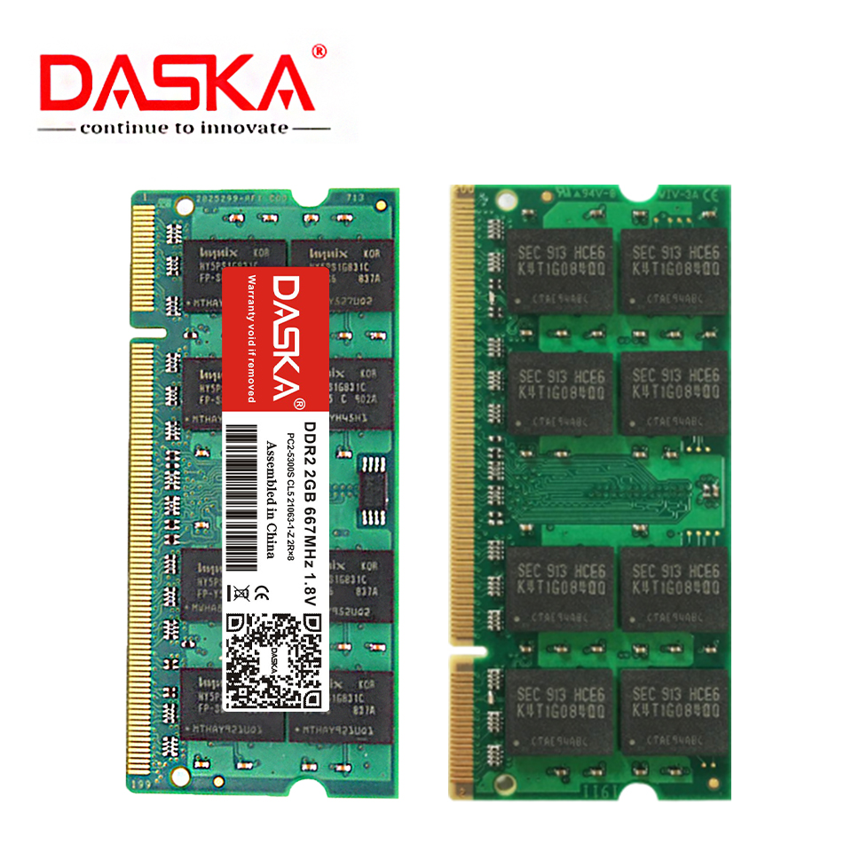 DASKA ddr2 2GB 4GB ram sodimm Laptop Memory PC2-5300/6400 800 667mhz 200pin 1.8V ddr 2 for Notebook Lifetime Warranty 2