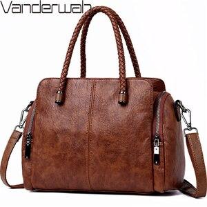 Image 1 - Casual Tote Bag Leather Luxury Handbags Women Bags Designer Handbags High Quality ladies Crossbody Hand Bags For Women 2020 Sac