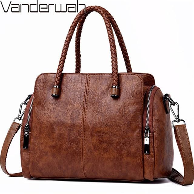 Casual Tote Bag Leather Luxury Handbags Women Bags Designer Handbags High Quality ladies Crossbody Hand Bags For Women 2020 Sac