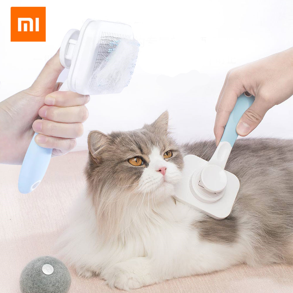 Original Xiaomi Mijia Youpin Pet Cat Hair Removal Brush Comb Pet Grooming Tools Hair Shedding Trimmer Comb For Dog And Cats