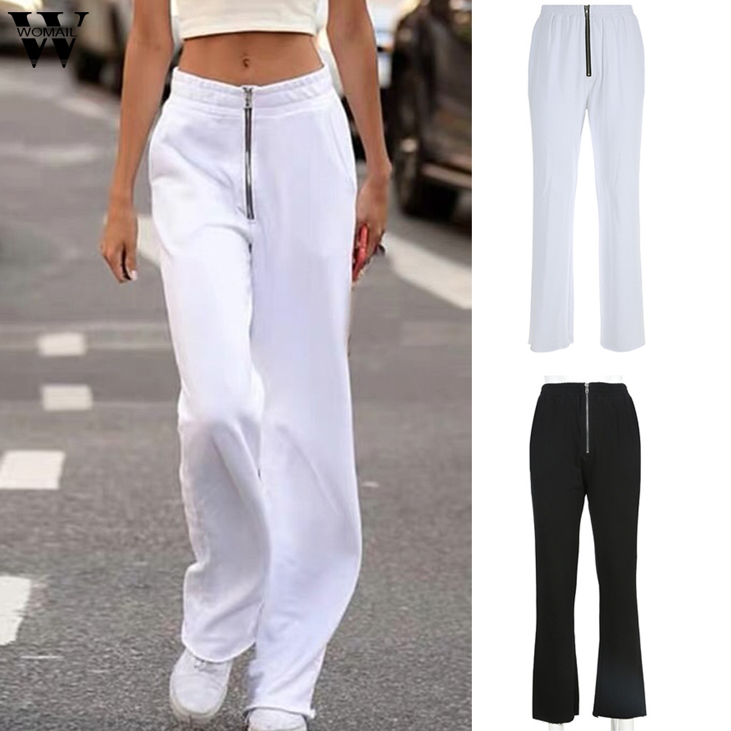 Womail Women   Pants     capris   2019 Harem   Pants   wide leg Hip-Hop Streetwear White Sport running Sweatpants   Pants   Trousers Casual J724