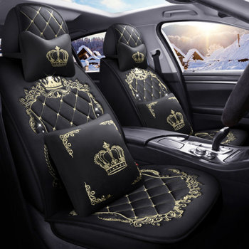 Winter  Auto Full coverage Seats Covers Plush Car Seat Cover for  Clio logan renault sandero fluence megane laguna