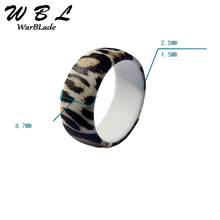 Leopard Print Silicone Ring For Men Women Wedding Rings Hypoallergenic Flexible Sports Antibacterial Rubber Finger Ring 2019 New