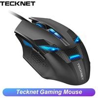 TeckNet 8 Button Optical Wired Gaming Mouse RGB LED Premium 7000DPI Sensor Ergonomic Computer Gamer Mice for PC Laptop Desktop