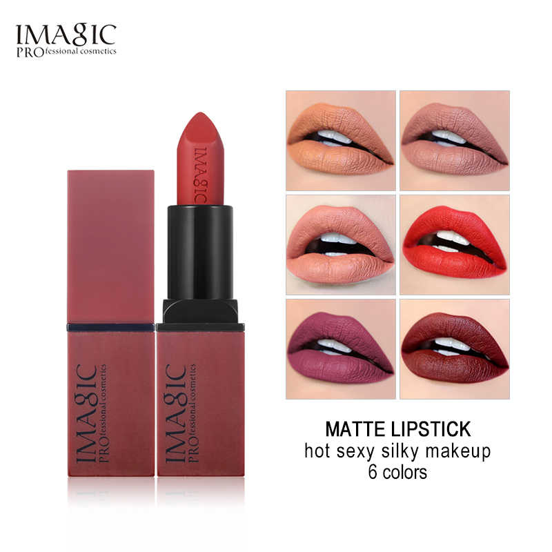 IMAGIC Velluto Opaco 6 Colori Stick Labbra di Seta Temptation Rouge Bellezza Batom Sexy Caldo Colori Rossetto Make Up