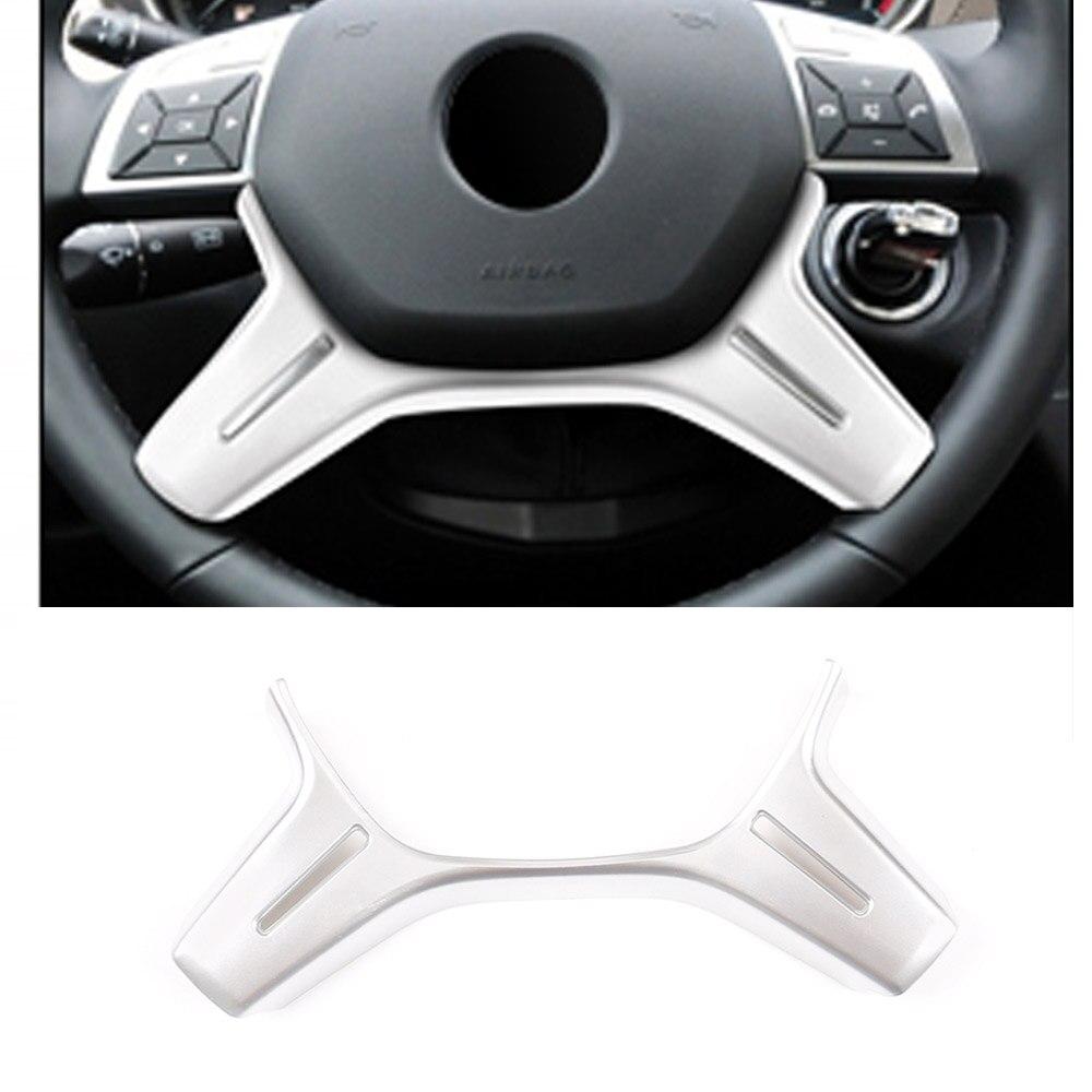 ABS krom Mercedes Benz C sınıfı için W204 C180 C200 2011-2013 araba direksiyon dekorasyon Trim E ML GL sınıf W212 X166 W166