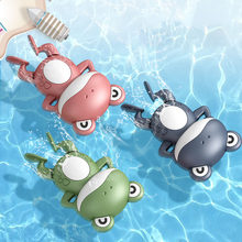 0 12 Months Baby Bath Toys for Kids Swimming Pool Water Game Wind-up Clockwork Animals Frog for Children Water Toys Gifts