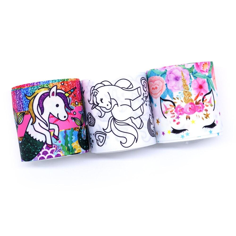 Free Shipping 2019 New Arrival Ribbons Hair Accessories Ribbon 10 Yards  Printed Grosgrain Ribbons 31686