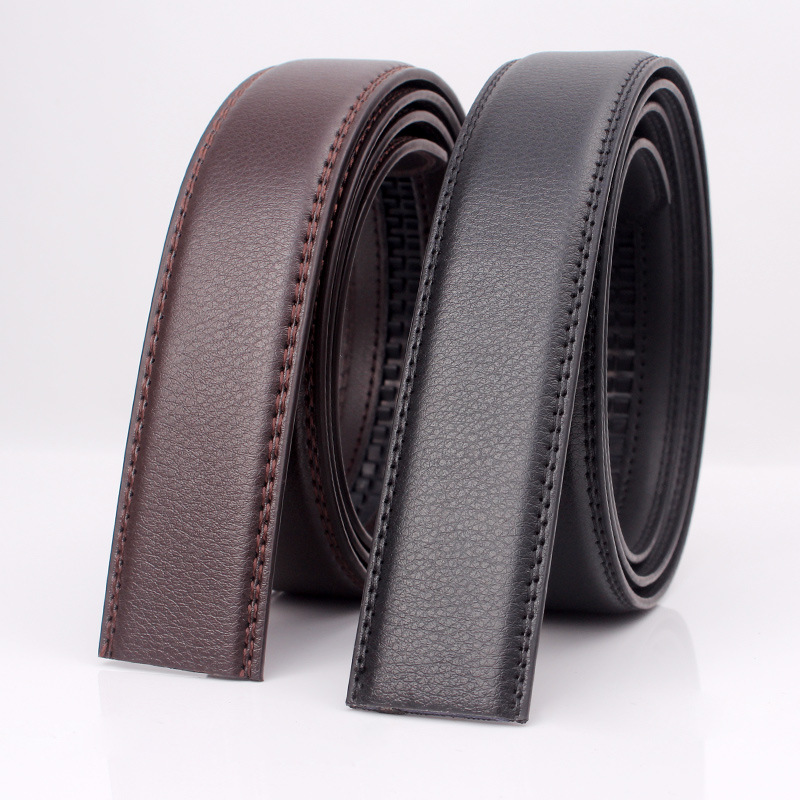Large Size Belt No Buckle For Automatic Buckle Genuine Leather Belts Without Buckle For Men Women No Buckle 3.5cm Wide 150 160cm