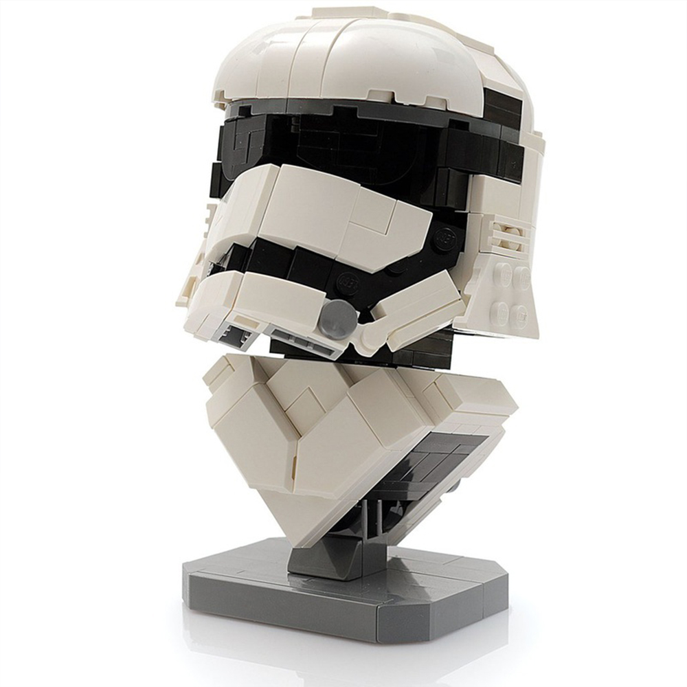 Legoing Star Wars Figurine Army Imperial Storm Trooper Half Body Statue Building Blocks Movie Legoed Starwars Figures Kid's Toys