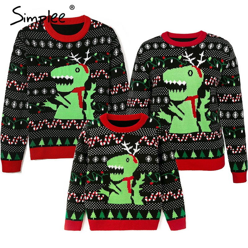 Family Matching Outfits Christmas Knitted Sweater Xmas Santa Father Mother Daughter Son Christmas New Year Pullover Sweater