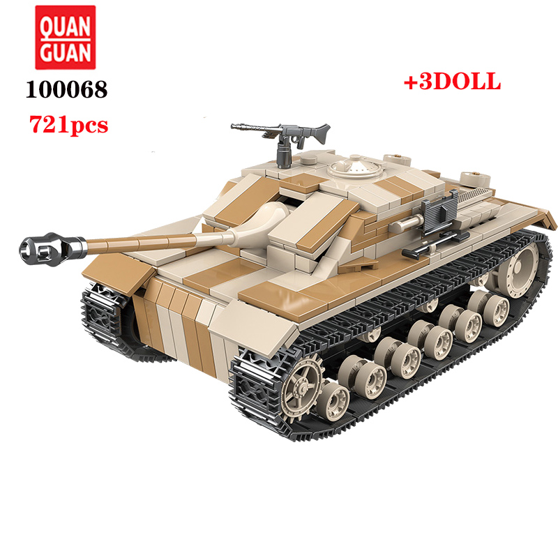 Image 5 - WW2 Military Germany III tank Building Blocks military tank in blocks Army Soldier Weapon Bricks Kids Assemble Toys For childrenBlocks   -