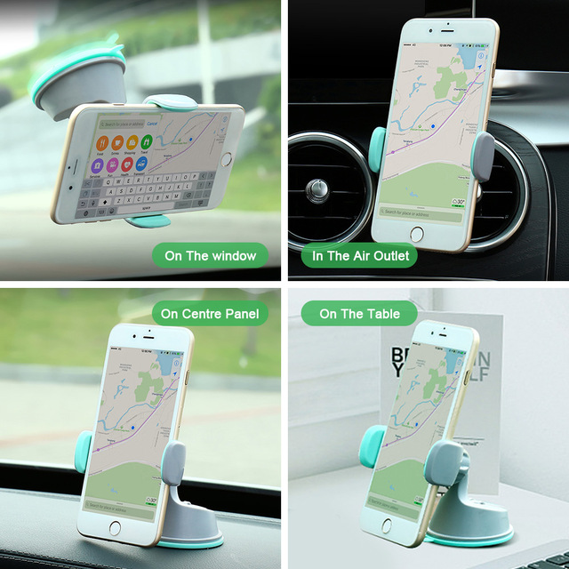 FLOVEME Universal Car Phone Holder For Samsung S9 S8 Dashboard Smartphone Navigation Car Holders For Phone In  Car Mount Stand
