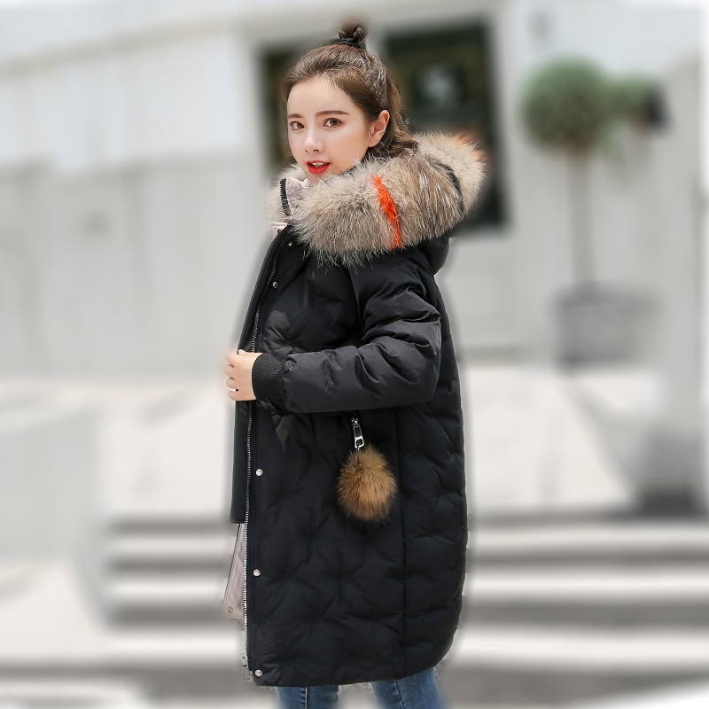 Women&39;s Jacket Large Size 2019 Female Long Hooded Fur Collar Parka_A4_5
