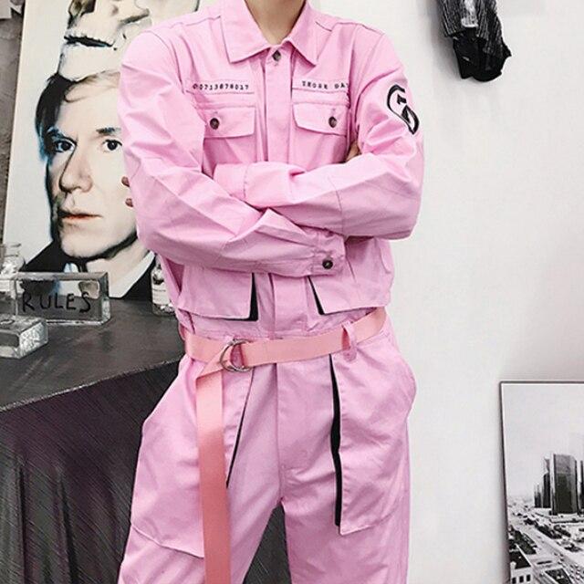 Aelfric Eden Hip Hop Streetwear Jumpsuit Men 2020 Fashion Multi Pockets Ribbons Cargo Pants Long Sleeve Rompers Joggers Techwear 26