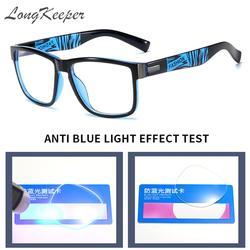 Anti Blue Light Glasses Frame For Men Women Clear Lens Computer Gaming Eyeglasses Fashion Square Eyewear Anti-UV Optical Frame