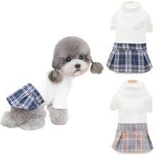 Одежда для домашних животных вязаные платья собак футболка маленьких